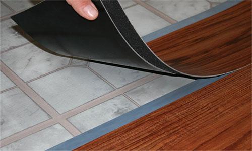 Гибкая виниловая плитка для кухни