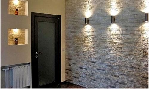 Ламинат на стену в интерьере кухни