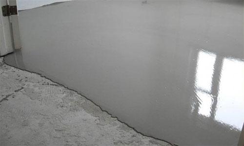 Наливной бетонный пол с подложкой под ламинат