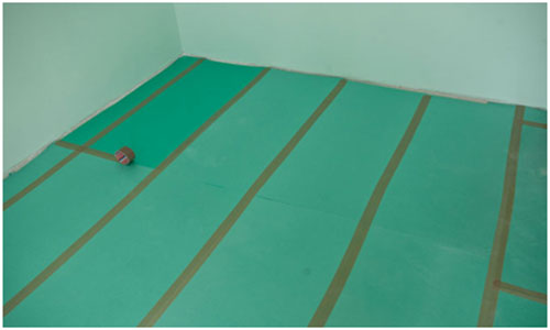 Пенополистирольная подложка под ламинат на бетонный пол