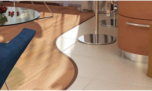 Использование флекс панели для стыка ламината и плитки