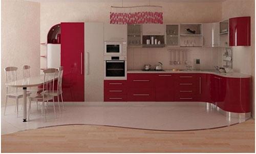 Сочетание напольной плитки и ламината на кухне