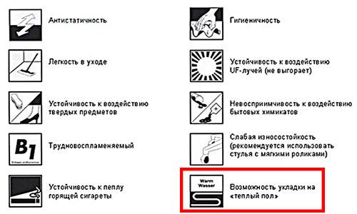 Маркировка ламинированного покрытия для теплого пола