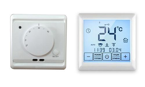 Обычный и сенсорный терморегулятор