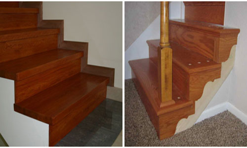 Оформление лестницы ламинатом