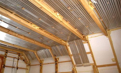 Вариант применения термопленки для стен и потолков