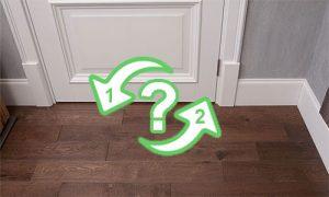 Что сначала ламинат или двери в комнате