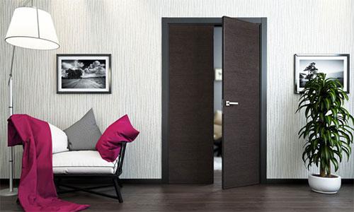 Двери венге и темный ламинат