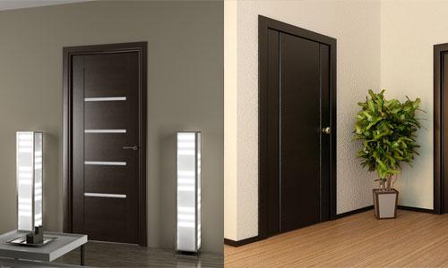 Двери венге в сочетании с ламинатом