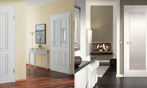 Ламинат и белый цвет дверей