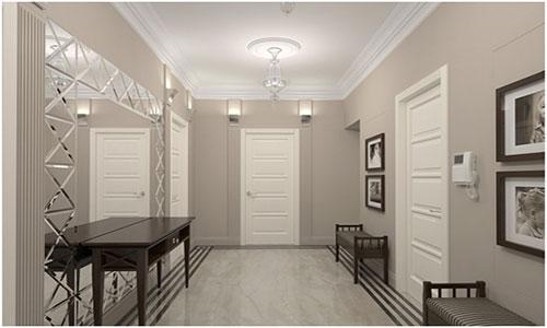 Сочетание цветов ламината и дверей для комнаты