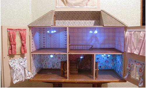 Дом для куклы из остатков ламинированной доски