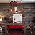Ламинат на стене кухни