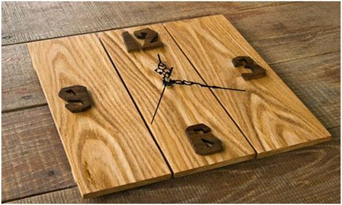 Настенные часы из остатков ламината