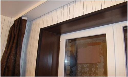 Откосы окна из ламината