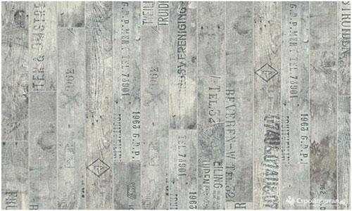 Серый ламинат с надписями