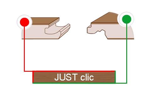 Соединение для шва для ламината JUST clic